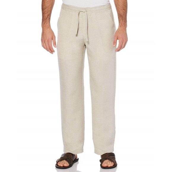 Cubavera Linen-Blend Beach Wide Leg Men's Pants